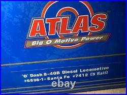 ATLAS O With LIONEL TMCC SANTA FE DASH 8-40B DIESEL ENGINE! O SCALE LOCOMOTIVE