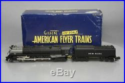 American Flyer 6-48047 S Scale Union Pacific 4-8-4 Northern Steam Locomotive & T