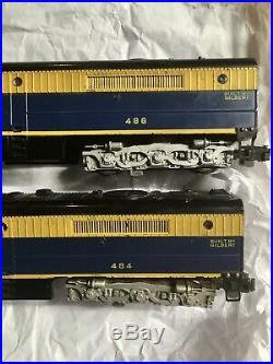 American Flyer S Scale #484/485/486 Santa Fe Aba Alco Diesel Locomotive Set