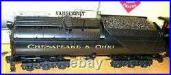 Aristocraft G Scale Mallet 2-8-8-2 Steam Engine & Tender Chesapeake & Ohio RR