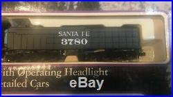 BACHMANN E-Z SCALE EMPIRE BUILDER SANTA FE TRAIN SET steam engine freight 24009