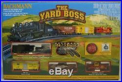 BACHMANN N SCALE YARD BOSS AT&SF STEAM ENGINE FREIGHT TRAIN SET gauge 24014 NEW