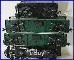 Bachmann Pennsylvania Train 9670 Stem Locomotive 2 Passenger Cars G Scale Set