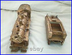 Brass Locomotive & Tender O-scale 2-rail 0-6-0
