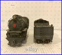 Cast Brass 2 Rail O Scale 4-6-0 Locomotive & Tender Decorated as PRR 5668