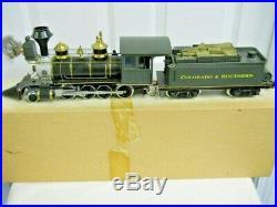 Delton Colorado & Southern 2-8-0 G Scale Steam Locomotive & Tender LN/OB 2225-C