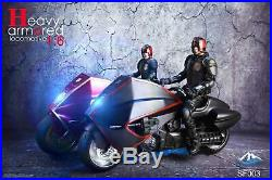 Dredd Lawmaster 1/6 Scale Red Bike Motorcycle Heavy Armored Locomotive Us Seller