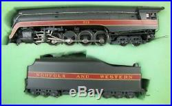Gem Norfolk and Western HO Scale Brass J Steam Engine and Tender