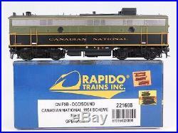 HO Scale Rapido 221608 CN Canadian National F9B Diesel Locomotive No # DCC Sound