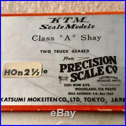 HOn30 9mm scale models PRECISION SCALE psc Class A Shay KATSUMI Locomotive