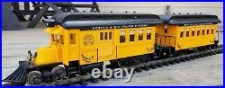 Hartland Locomotive Works D&RGW Doodlebug and coach set, G scale
