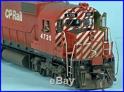 Ho Scale Bowser M636 Cp Rail #4735 DCC Equipped Non-sound Engine Weathered And D