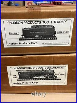 Hudson Products 700-E Locomotive & 700-T Tender Full Scale Super Deluxe Orig Box