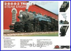 Huge O Scale MTH PremierErie 2-8-8-8-2 Triplex Steam Locomotive Set (Proto-2)