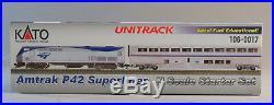 KATO N SCALE AMTRAK P42 SUPERLINER STARTER TRAIN SET oval track car 106-0017 NEW