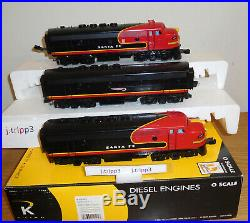 K-line K-25303 Santa Fe Aba F-3 Black Bonnet Diesel Engines O Scale Train Lionel