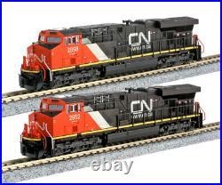 Kato N Scale ES44AC 2 Locomotive Set CN #2898 #2952 DC DCC Ready 1768938 1768939