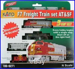 Kato N Scale F7 Freight Train Set AT&SF Santa Fe #106-6271