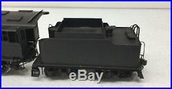 Kemtron Brass 2 Rail O Scale Wabash 2-6-0 Steam Engine & Tender Used