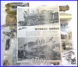 Kemtron Brass Kit to Build an O scale Wabash Mogul 2-6-0 Steam Locomotive