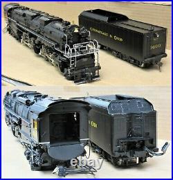 Key Imports (Sam) Brass 2-6-6-6 C&O H-8 Allegheny Steam Engine O-Scale 2-Rail LN