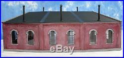 Korber Models #320 O Scale 3 Stall Locomotive Roundhouse Kit