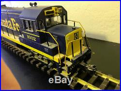 LGB 1602 G Scale SANTA FE Blue and Yellow Diesel Locomotive with Sound Box, RARE