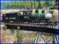 LGB 27192 Rio Grande D+RGW 2-6-0 Mogul Steam Locomotive, G scale #573
