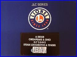 Lionel O Scale JLC Chesapeake & Ohio C&O H-7 2-8-8-2 Steam Engine Itm 6-38058 #2