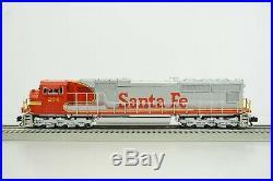 Lionel O Scale Santa Fe SD75 Diesel Engine #204 Damaged No Go Item 2-11559