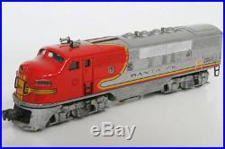 Lionel O guage scale Trains Santa Fe Lines Locomotive