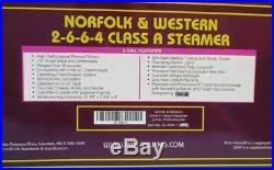 MTH 148 O Scale Norfolk & Western 2-6-6-4 Class A Steam Engine Train #20-3036-1