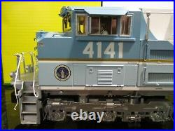MTH RAILKING G SCALE LOCOMOTIVE SD70ACe ENGINE WithPS3 GEORGE BUSH #4141-NEW