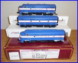 Mth 20-20267-1 Long Island Lirr F-7 Aba Locomotive Diesel Engine Set Scale Train