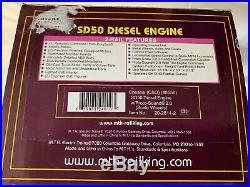 Mth Premier Chessie Sd50 Diesel Engine Scale Wheels Protosound 2.0 Lnbox Ps2 C&o
