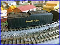 N SCALE Con-Cor Rivarossi Berkshire Nickel Plate RR 2-8-4 steam Engine