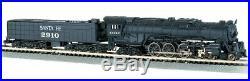 N Scale Bachmann 4-8-4 Northern Steam Locomotive with 52' Tender Santa Fe ATSF