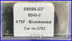 N Scale Intermountain DCC Equipped Santa Fe Bicentennial Sd45-2 Atsf #5702