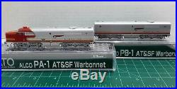 N Scale KATO PA-1 & PB-1'Santa Fe' Both Powered DCC Ready Item #176-4120 & 4122