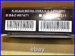 N Scale Metal Usra 4-6-2 B&o Pacific Model Power # 87471 New Nice DCC Compatible