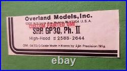 O Scale Overland OMI Brass GP30 ph. II Southern #2623