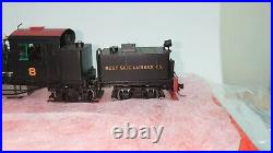 Precision Scale (PSC) Brass Westside Lumber Co. Shay #8 Locomotive (Hon3 Scale)