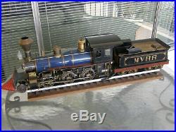 Railroad Os Mogul 1 Scale Narrow Gauge Live Steam Locomotive Engine & Tender