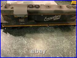 USA Trains weathered, GP9 locomotive, CB&Q, Burlington Route, g scale