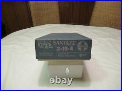 United PFM HO Scale Santa Fe 2-10-4 Texan Brass Steam Locomotive & Tender OB
