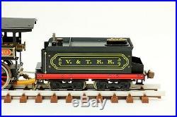 Vintage Aster Virginia & Truckee Live Steam 4-4-0 Reno Locomotive 1/28 G Scale