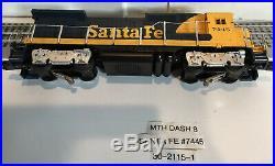 Vintage MTH O/O-27 Scale Santa Fe Dash 8 Diesel Locomotive with Proto #30-2115-1
