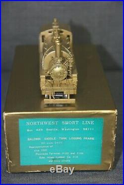 Vintage NWSL HO Scale Brass Peninsula Terminal 2-6-2T Toby Logging Locomotive Ja